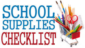 JES - School Supply List - 1st Grade - 2019-2020