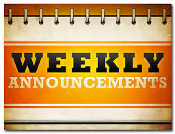 JES - Weekly Announcements - 07-21-2019