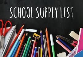 Updated-5th Grade Supply List