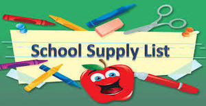 JES - School Supply List - 4th Grade - 2019-2020