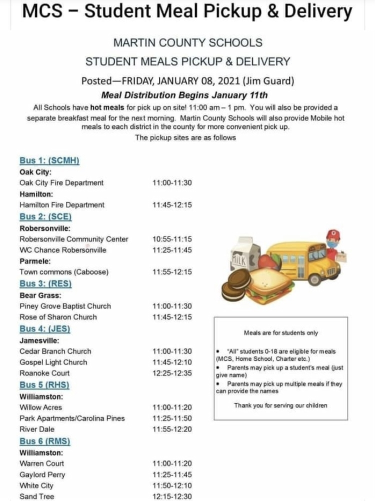 Student Meal Distribution Schedule